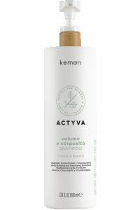 Actyva volume e corposità shampoo 1000 ml bolli - fronte.png