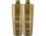 Argaaniaõli ja keratiiniga niisutav ning tugevdav šampoon ja palsam JAD kõikidele juustele komplekt 1l+1l