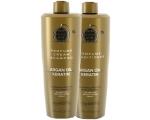 Argaaniaõli ja keratiiniga niisutav ning tugevdav šampoon ja palsam VIE kõikidele juustele komplekt 1l+1l